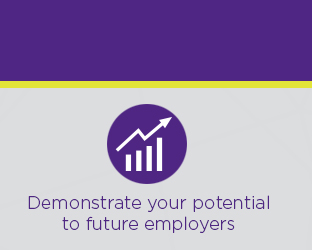 Demonstrate your potential to future employers